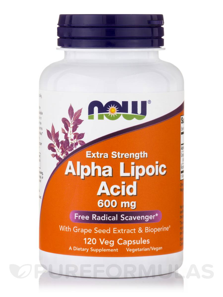 Alpha Lipoic Acid 600 mg (Extra Strength) - 120 Veg Capsules