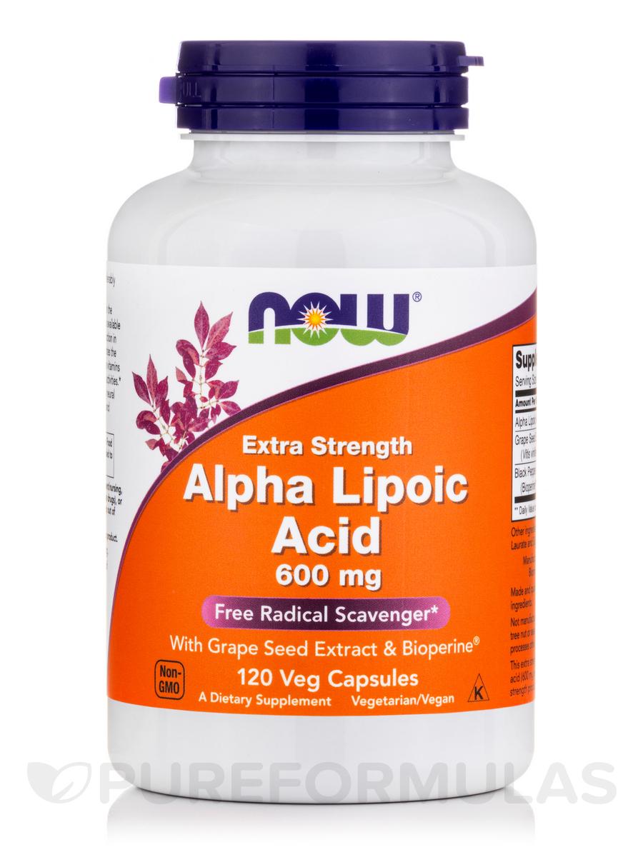 Alpha Lipoic Acid 600 mg (Extra Strength) - 120 Veg Capsules