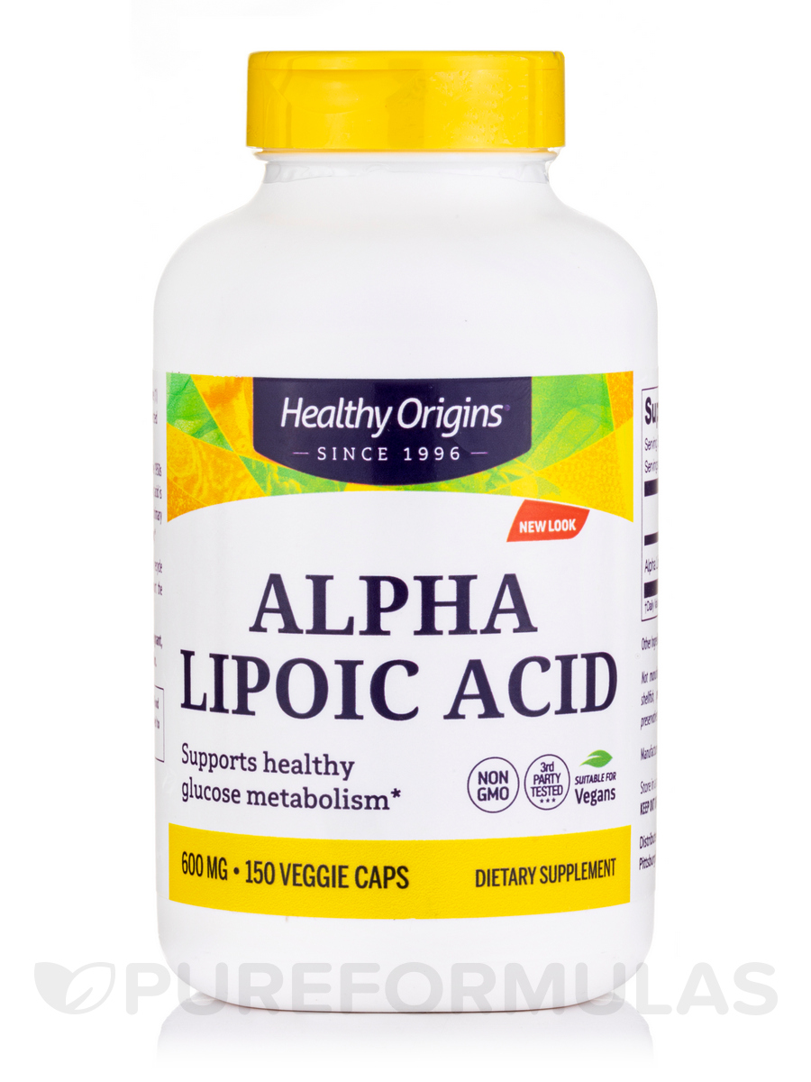 Alpha Lipoic Acid 600 mg - 150 Capsules