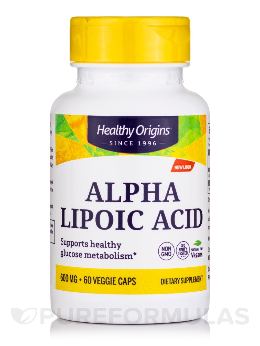 Alpha Lipoic Acid 600 mg - 60 Capsules