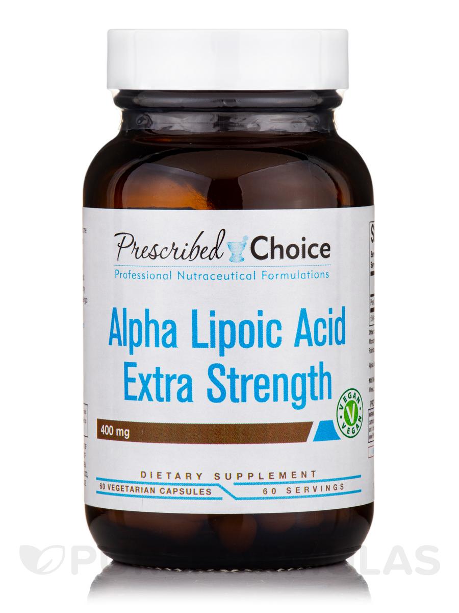 Alpha Lipoic Acid Extra Strength 400 mg - 60 Vegetarian Capsules