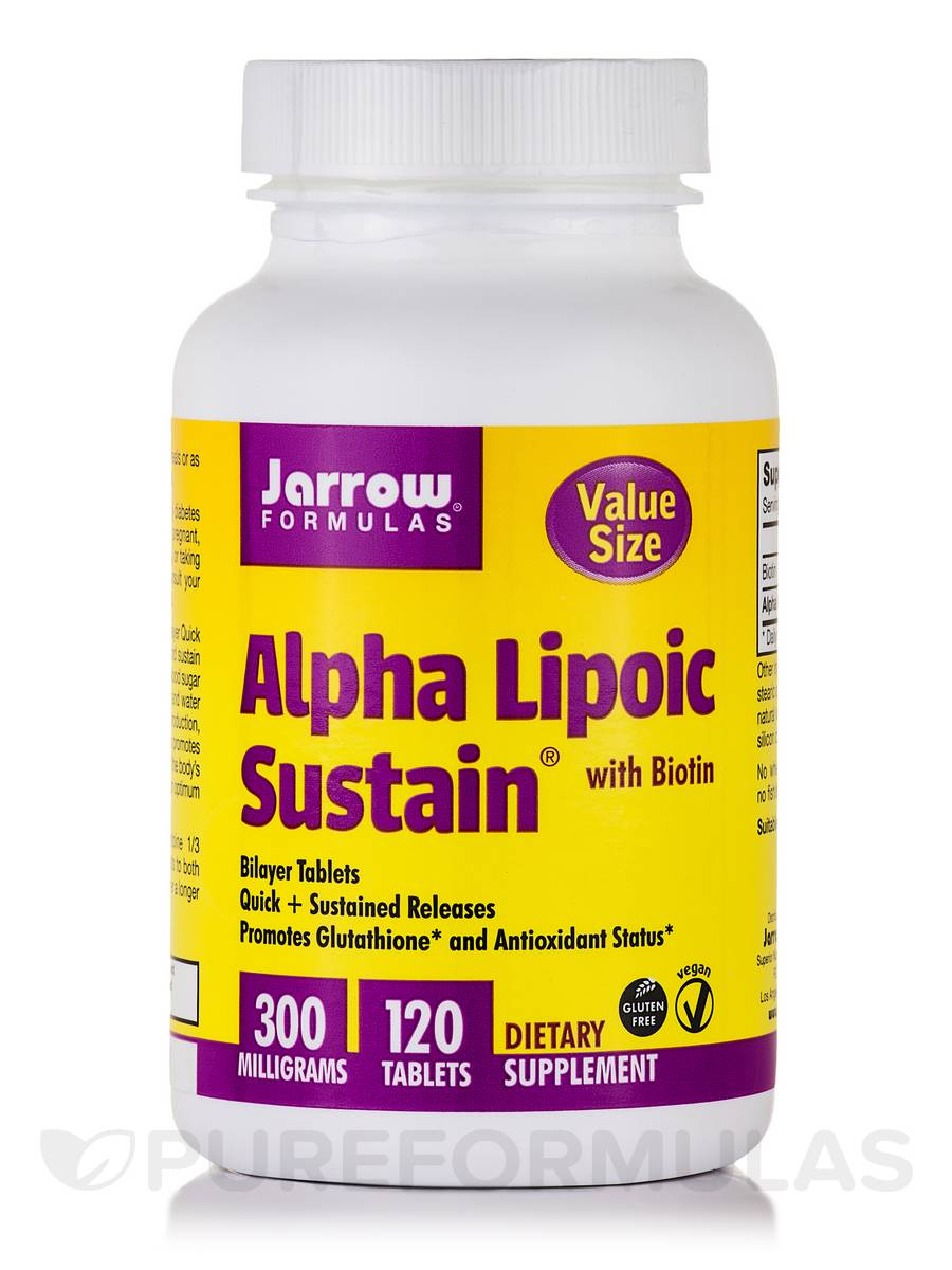 Alpha Lipoic Sustain with Biotin - 120 Tablets