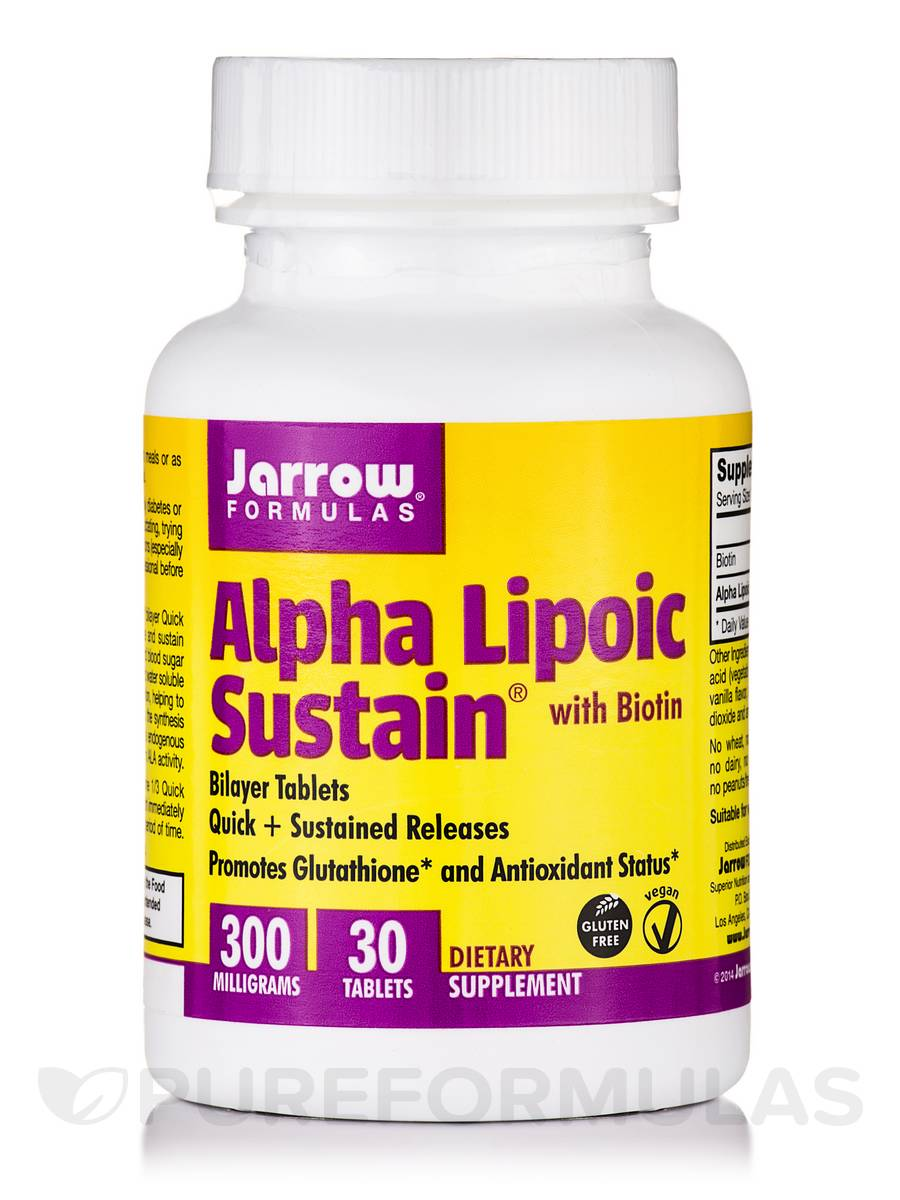 Alpha Lipoic Sustain 300 with Biotin - 30 Tablets