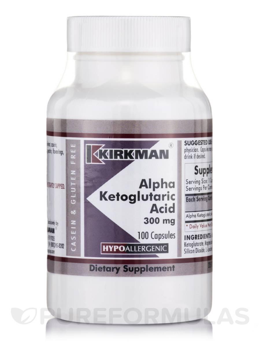 Alpha-Ketoglutaric Acid 300 mg -Hypoallergenic - 100 Capsules