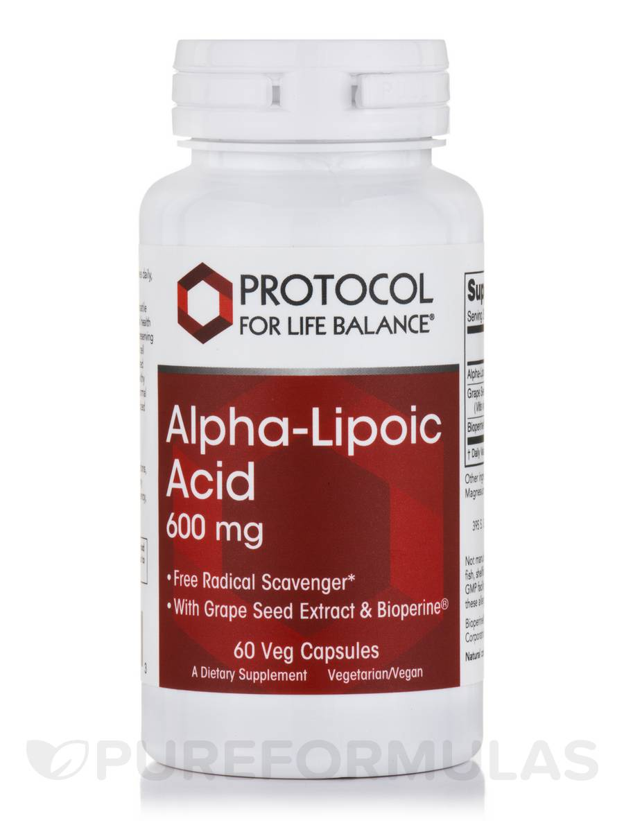 Alpha-Lipoic Acid 600 mg - 60 Vegetarian Capsules