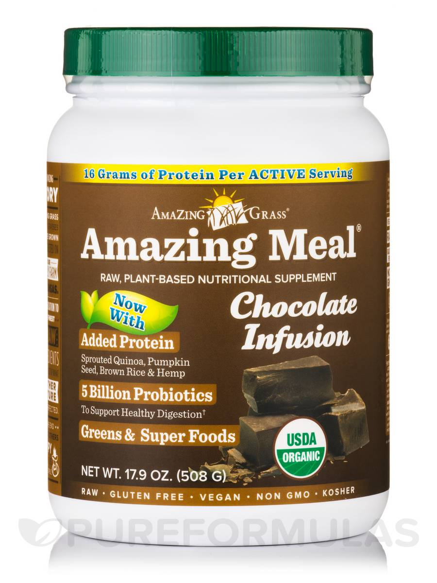 Amazing Meal® Chocolate Infusion Powder - 17.9 oz (508 Grams)