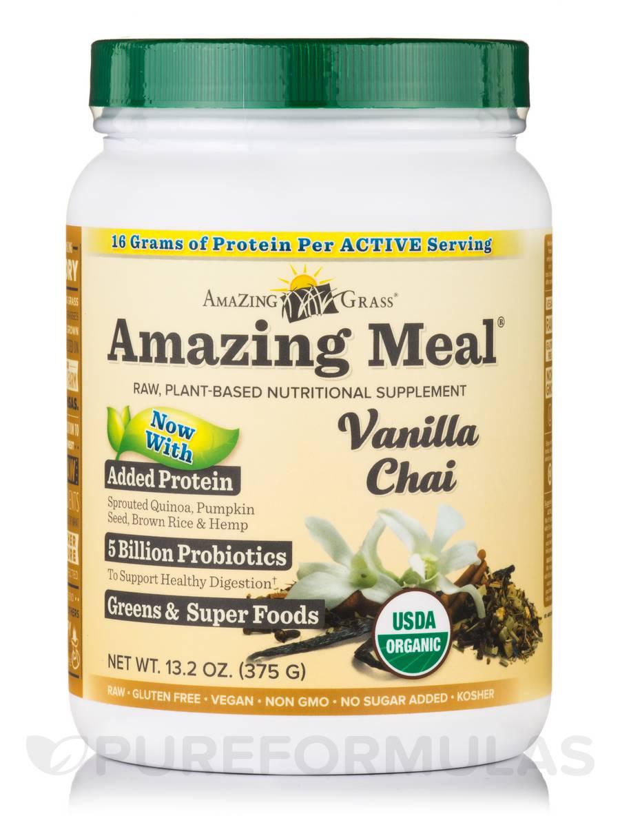 Amazing Meal® Vanilla Chai Powder - 13.2 oz (375 Grams)