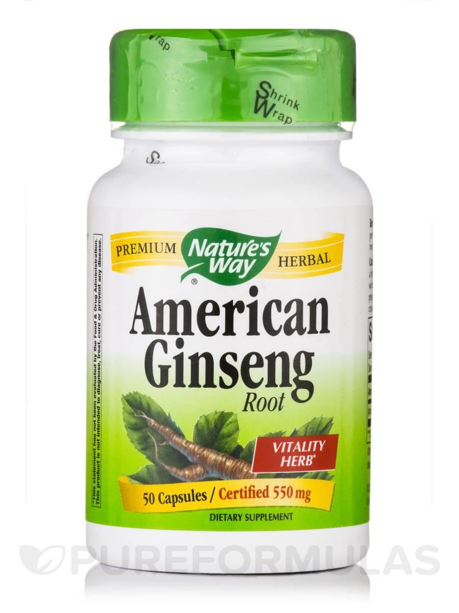 American Ginseng Root 550 mg - 50 Capsules