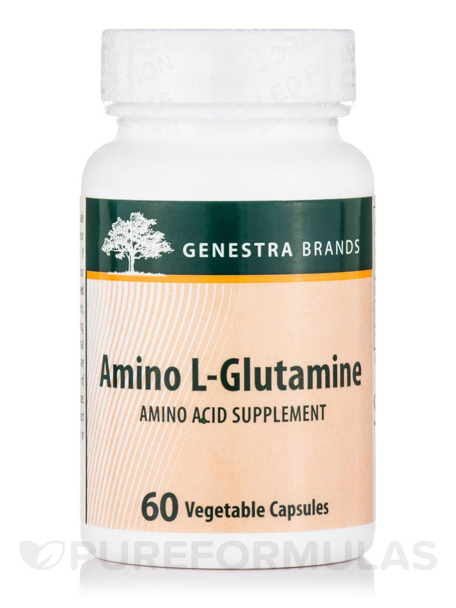 Amino L-Glutamine - 60 Vegetable Capsules