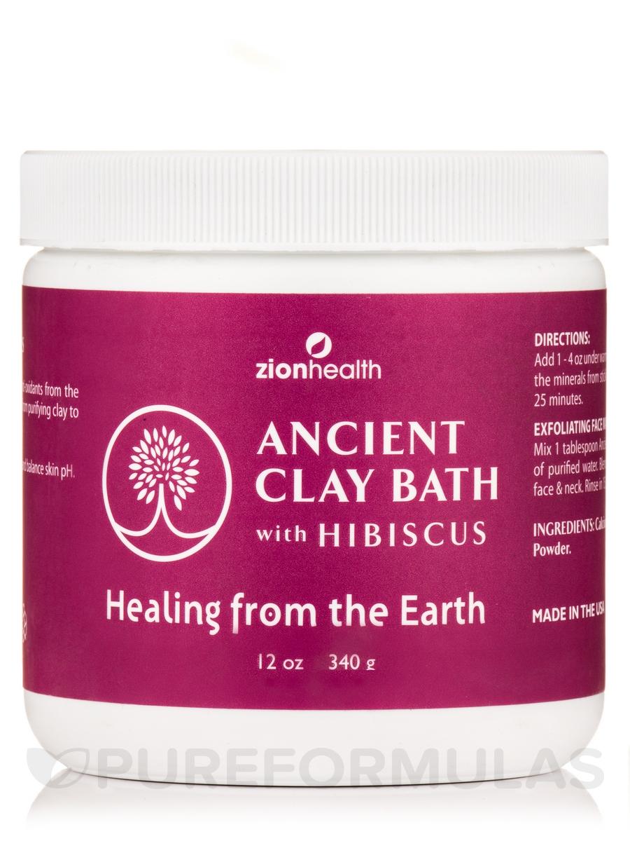 Ancient Clay Bath, Hibiscus - 12 oz (340 Grams)