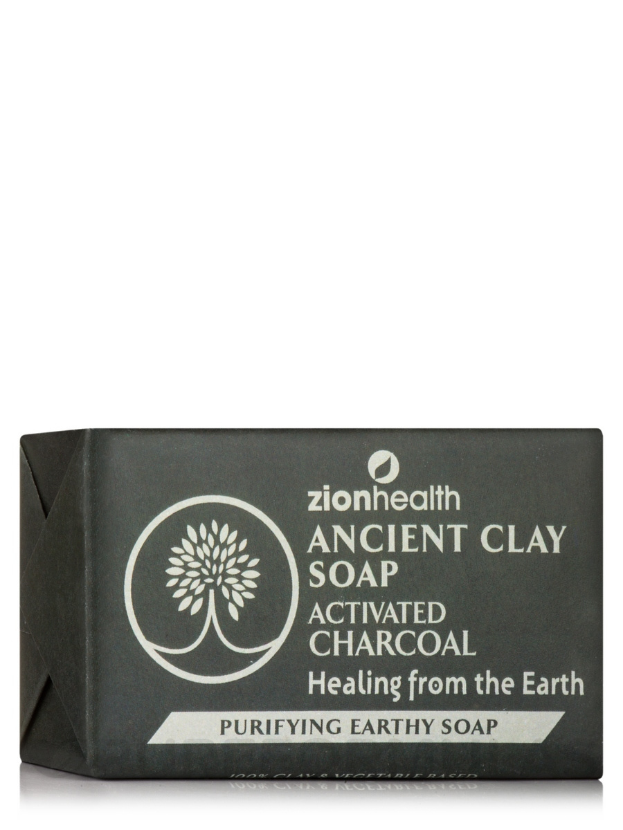Ancient Clay Soap, Activated Charcoal - 6 oz (170 Grams)