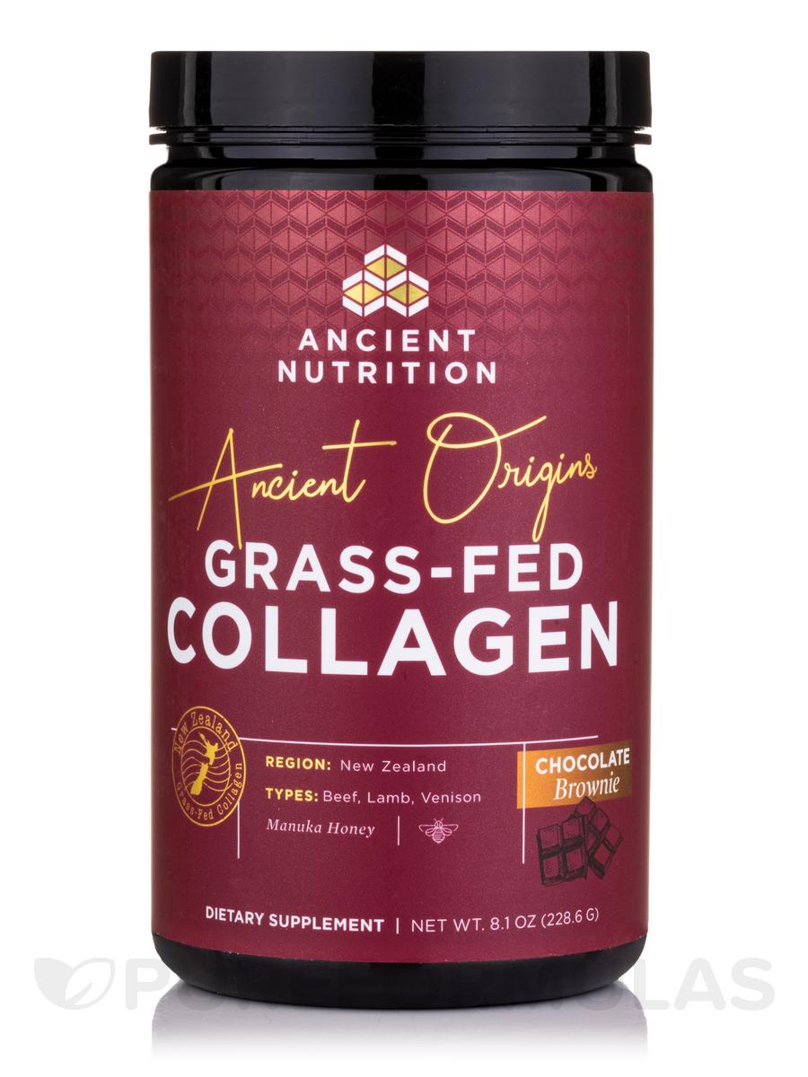 Ancient Origins Grass-Fed Collagen Powder, Chocolate Brownie Flavor - 8.1 oz (228.6 Grams)