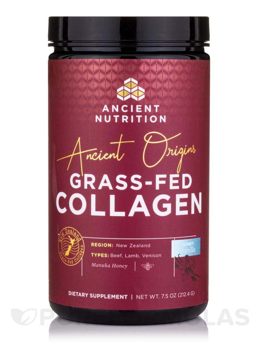 Ancient Origins Grass-Fed Collagen Powder, Honey Vanilla Flavor - 7.5 oz (212.4 Grams)