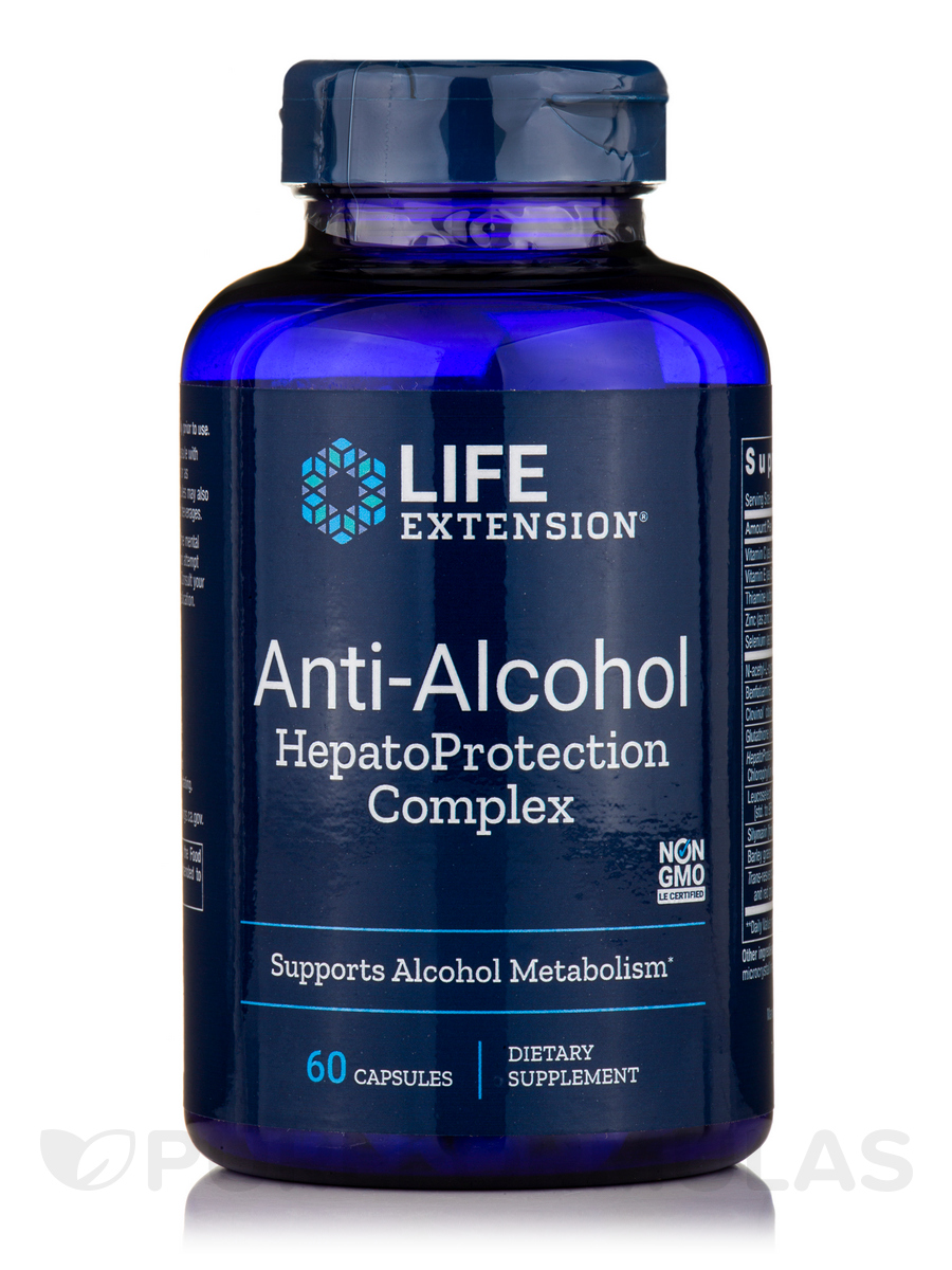 Anti-Alcohol with Hepato Protection Complex - 60 Vegetarian Capsules