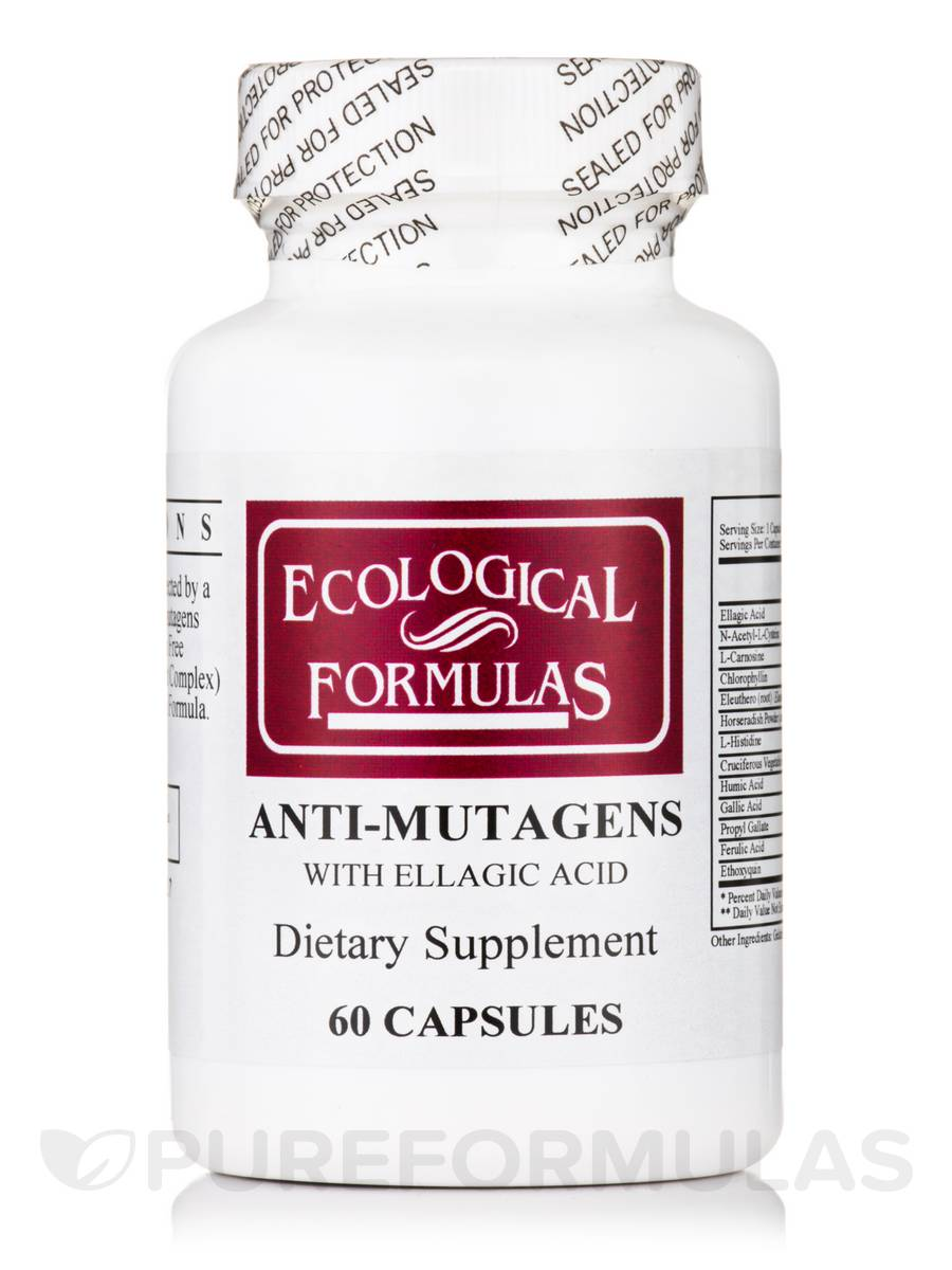 Anti-Mutagens with Ellagic Acid - 60 Capsules