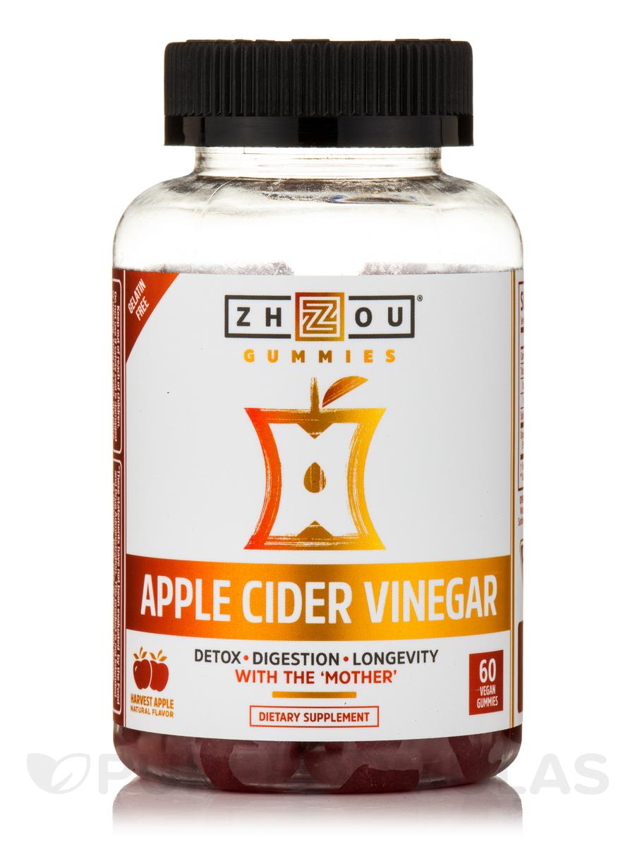Apple Cider Vinegar Gummies, Natural Harvest Apple Flavor - 60 Vegan Gummies
