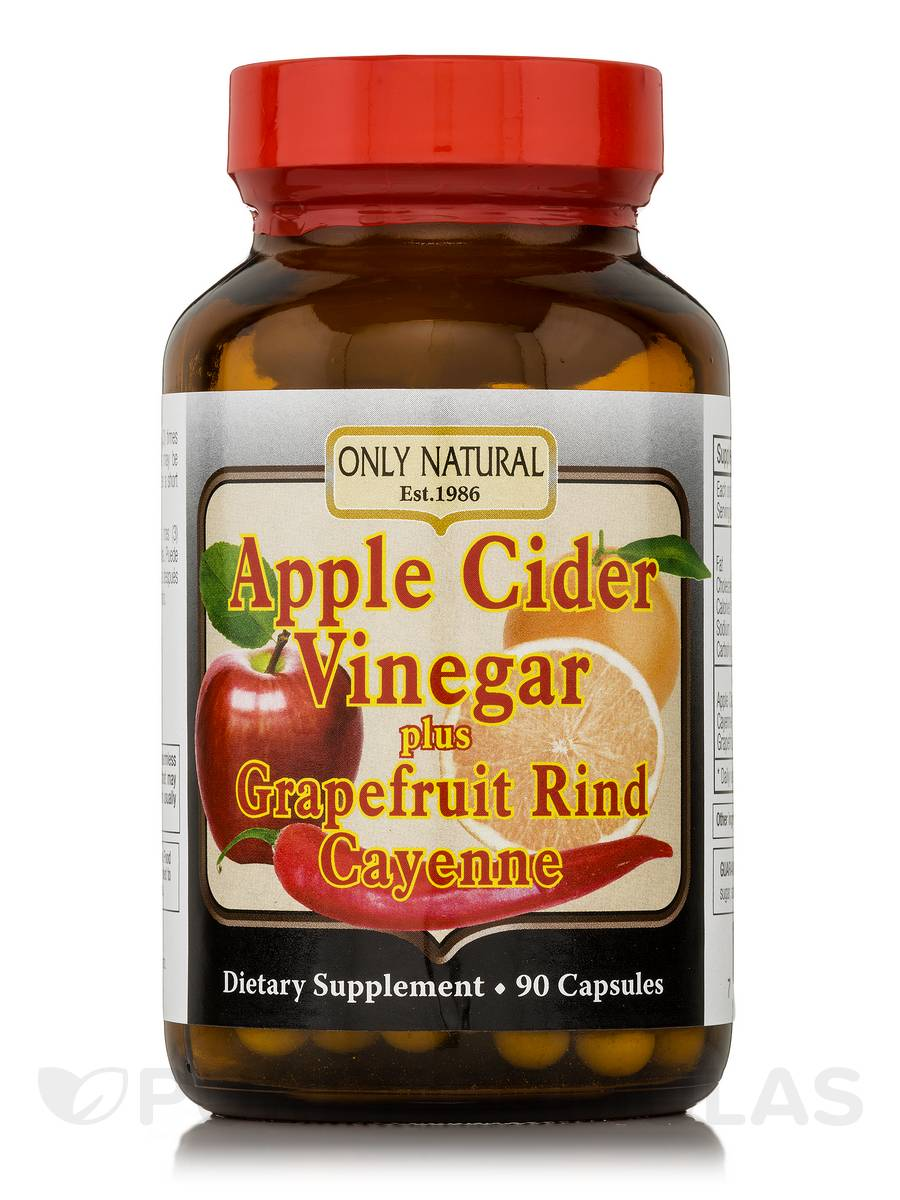 Apple Cider Vinegar Plus Grapefruit Rind, Cayenne - 90