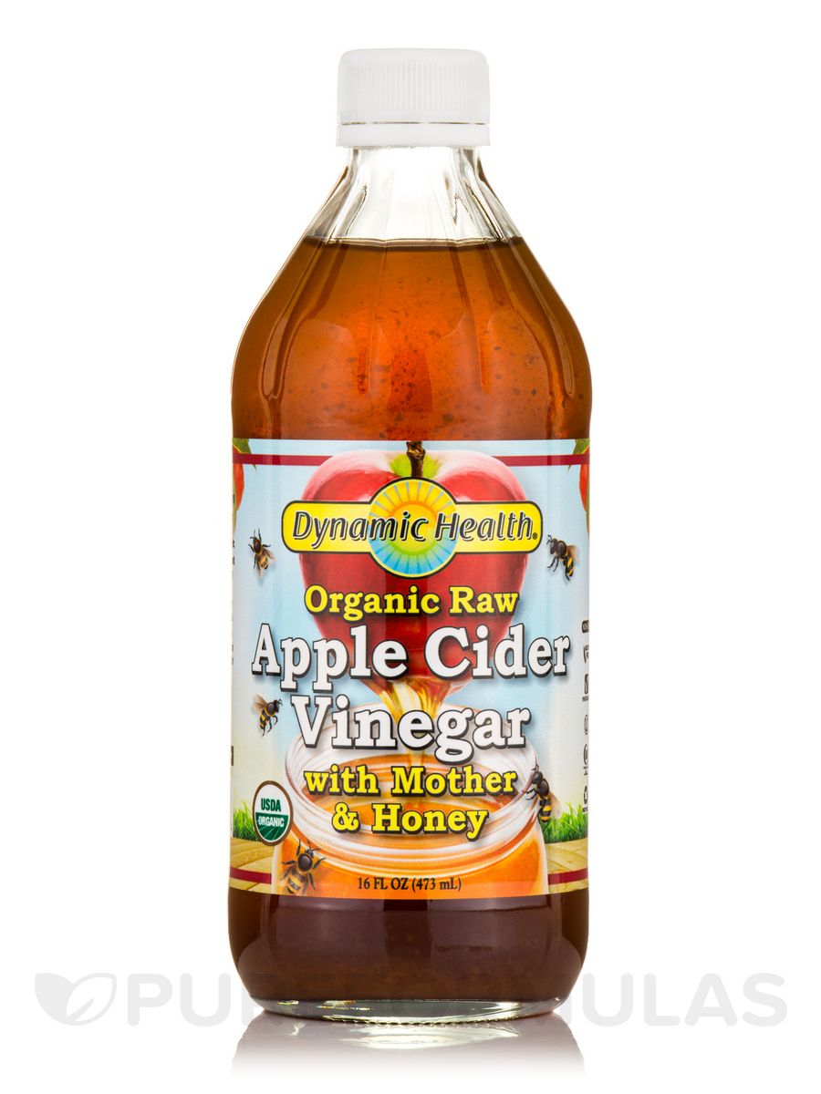 Apple Cider Vinegar with Mother & Honey, Raw - 16 fl. oz (473 ml)