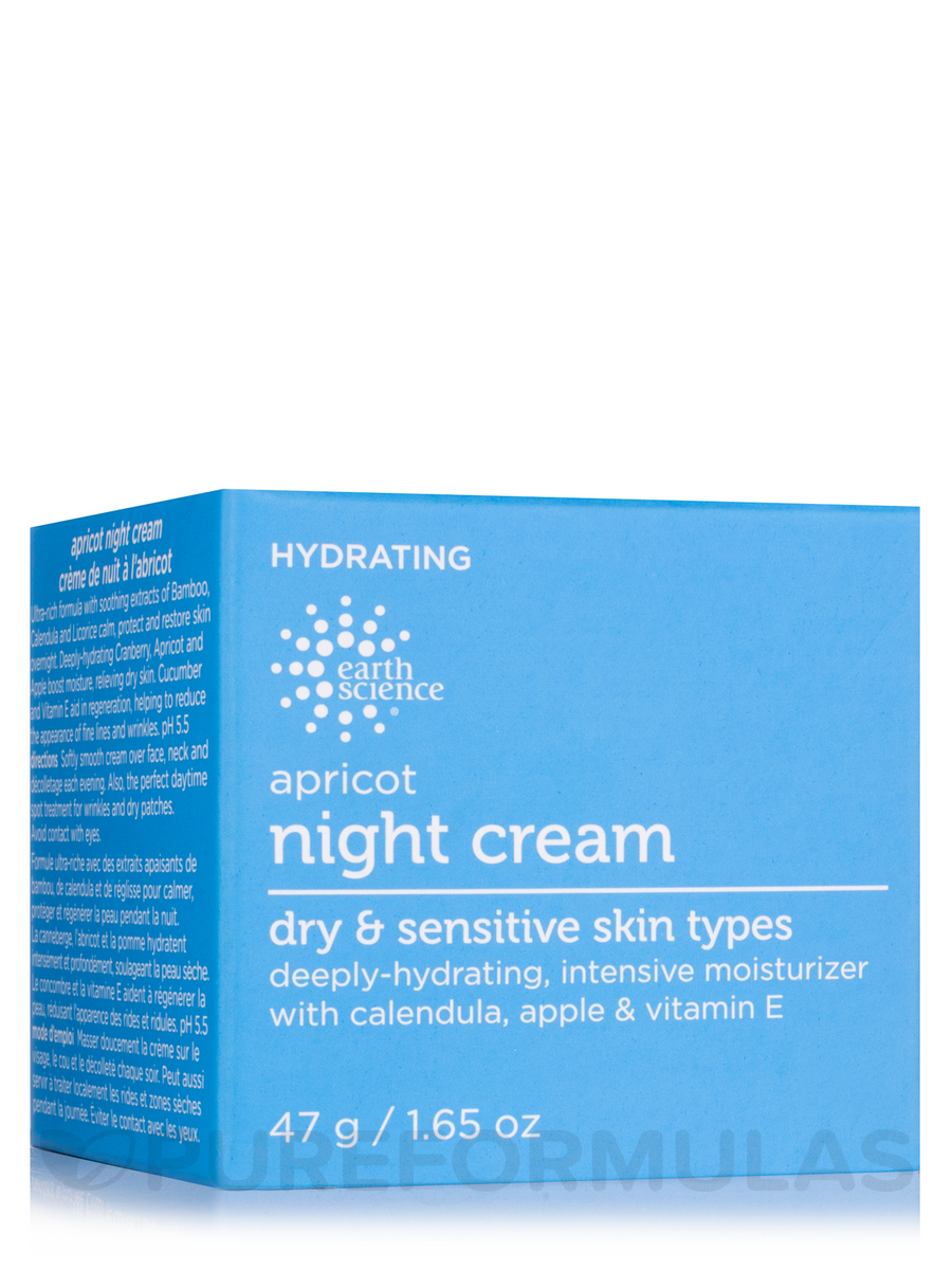 Apricot Night Cream with Deeply Hydrating Apricot & Vitamin E - 1.65 oz (47 Grams)