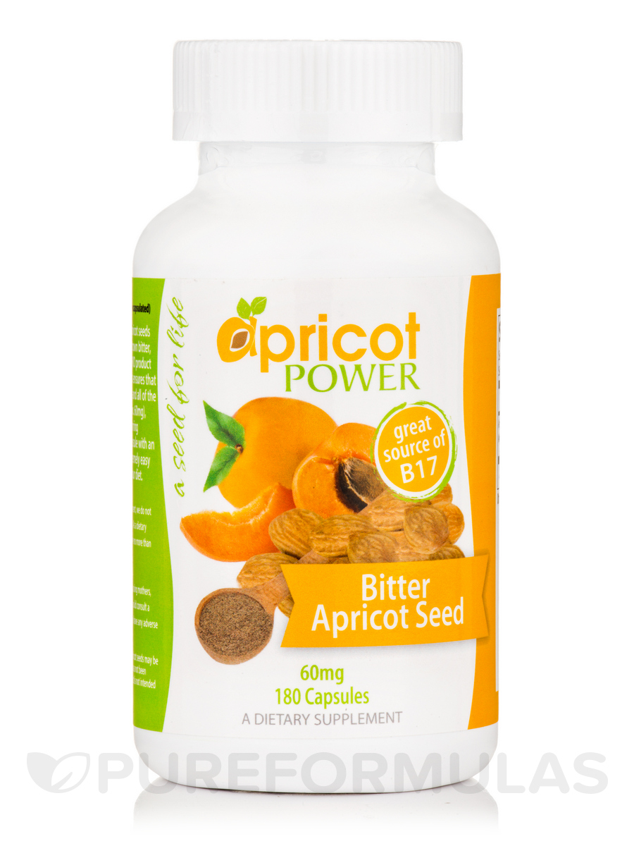 Bitter Apricot Seed 60 mg - 180 Capsules