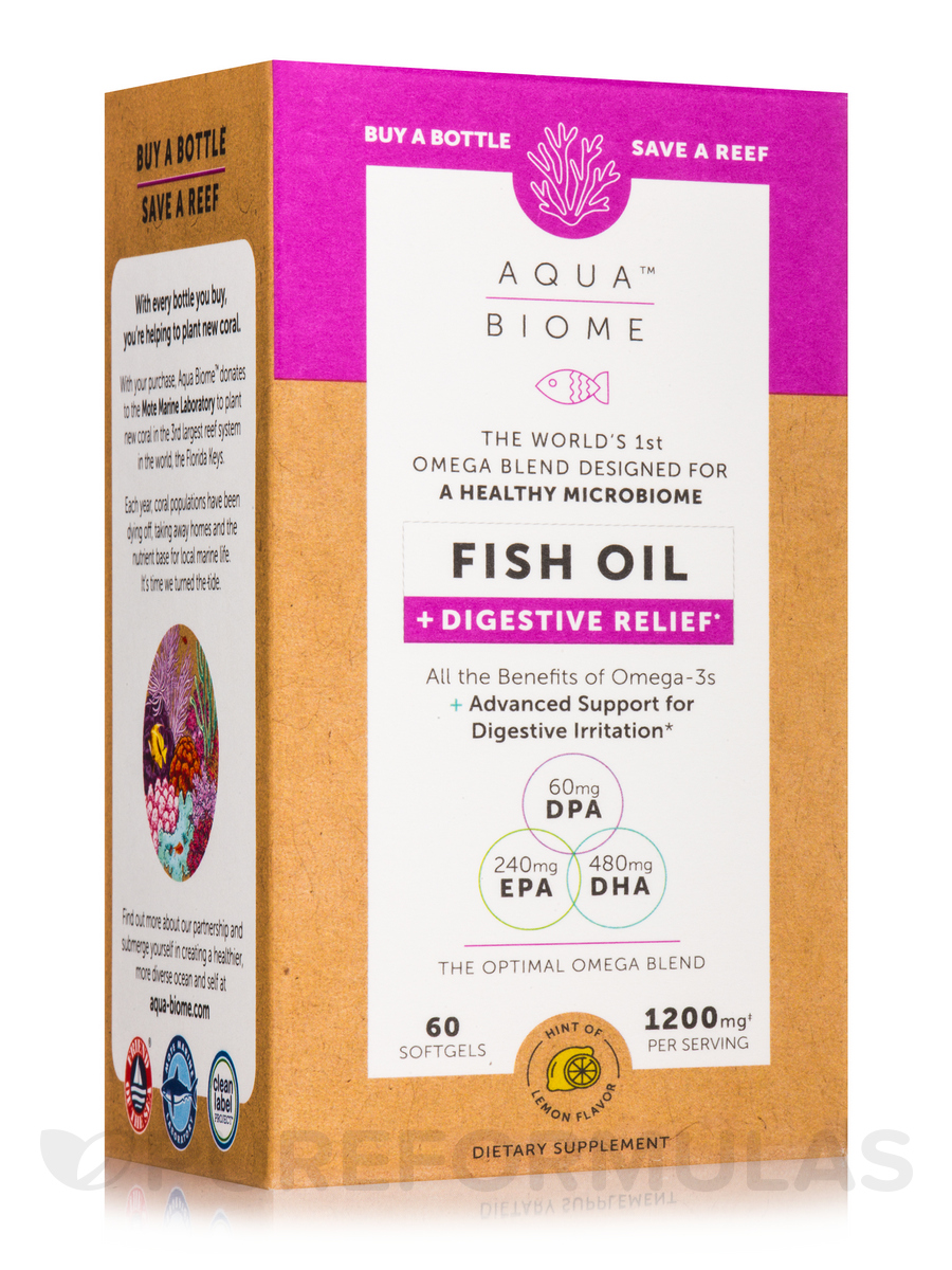 Aqua Biome™ Fish Oil + Digestive Relief - 60 Softgels