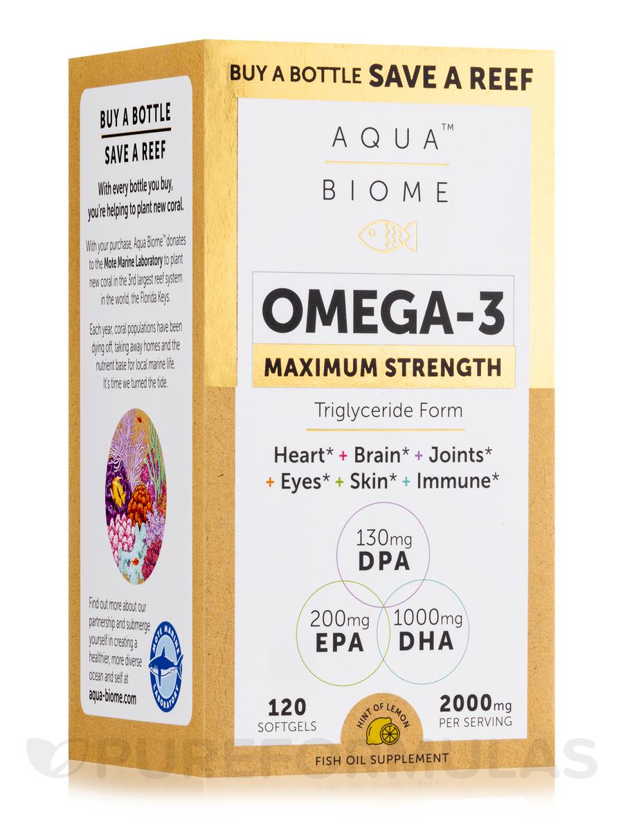 Aqua Biome™ Fish Oil Maximum Strength - 120 Softgels