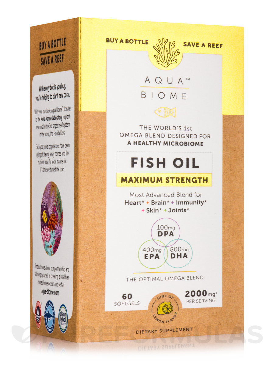 Aqua Biome™ Fish Oil Maximum Strength - 60 Softgels