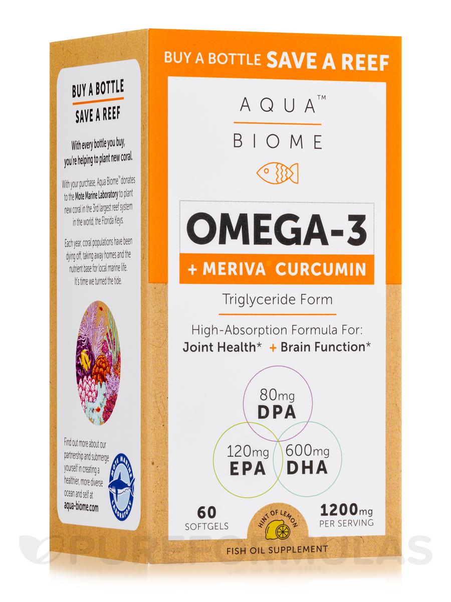 Aqua Biome™ Fish Oil + Meriva Curcumin - 60 Softgels
