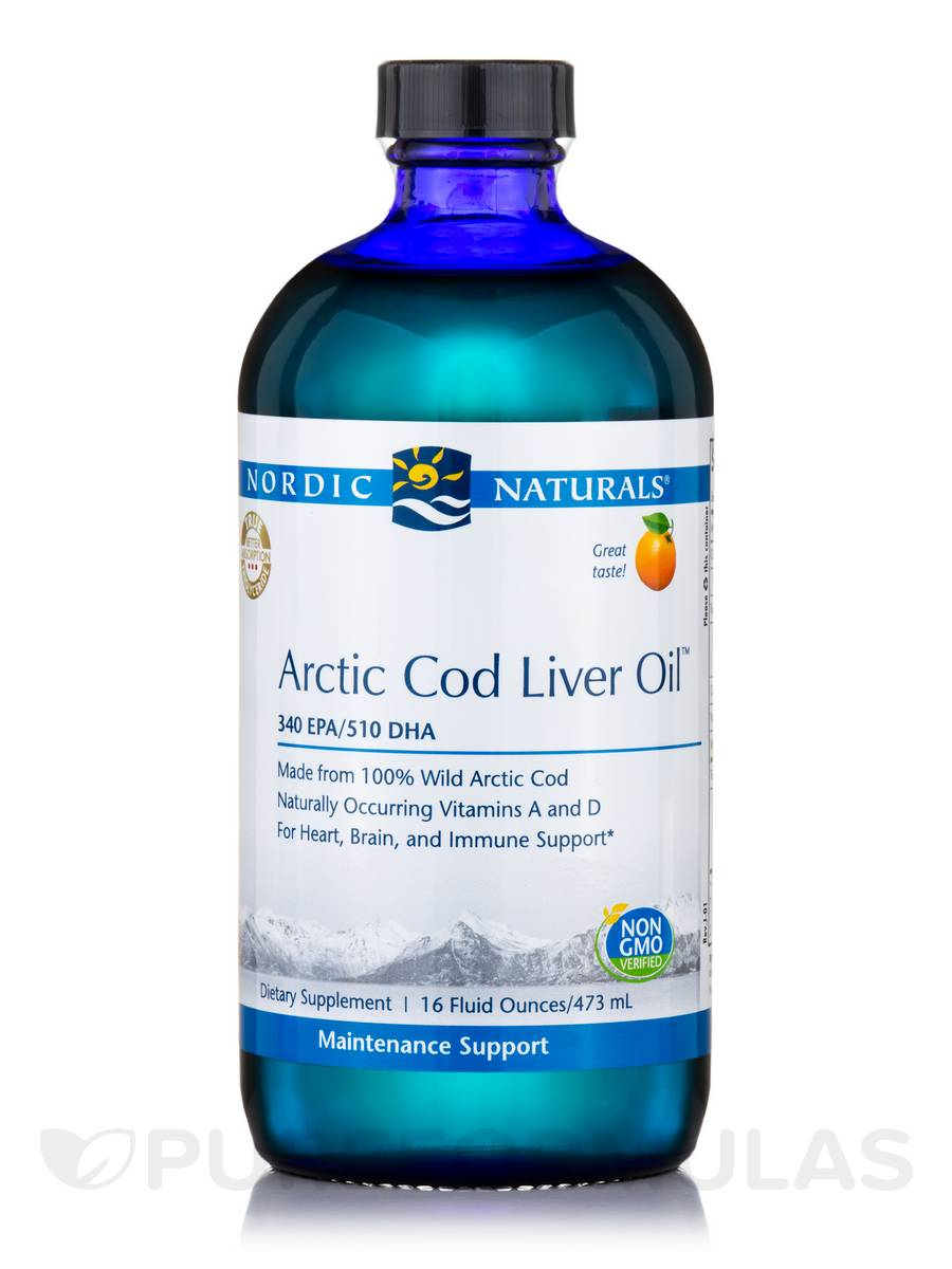 Arctic™ Cod Liver Oil, Orange Flavor - 16 fl. oz (473 ml)