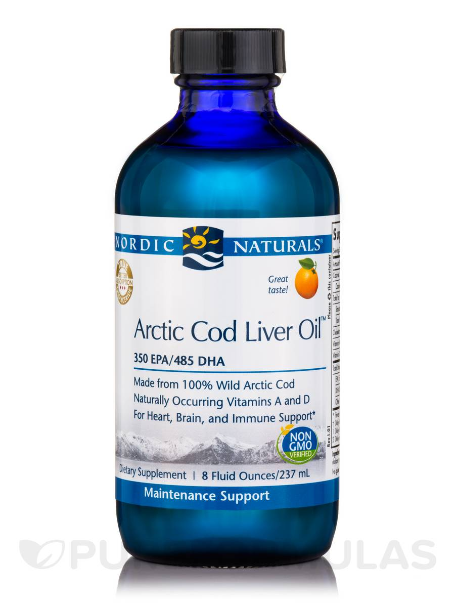 Arctic™ Cod Liver Oil, Orange Flavor - 8 fl. oz (237 ml)