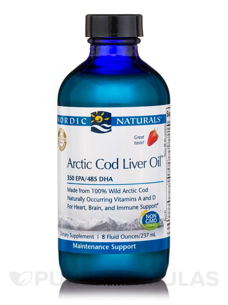 Arctic™ Cod Liver Oil, Strawberry Flavor - 8 fl. oz (237 ml)