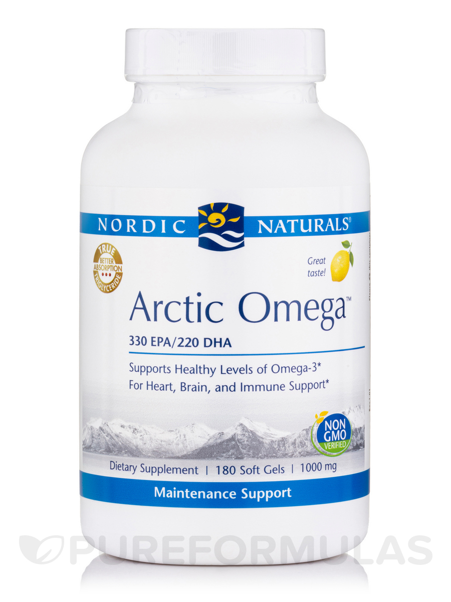 Arctic™ Omega 1000 mg, Lemon Flavor - 180 Soft Gels