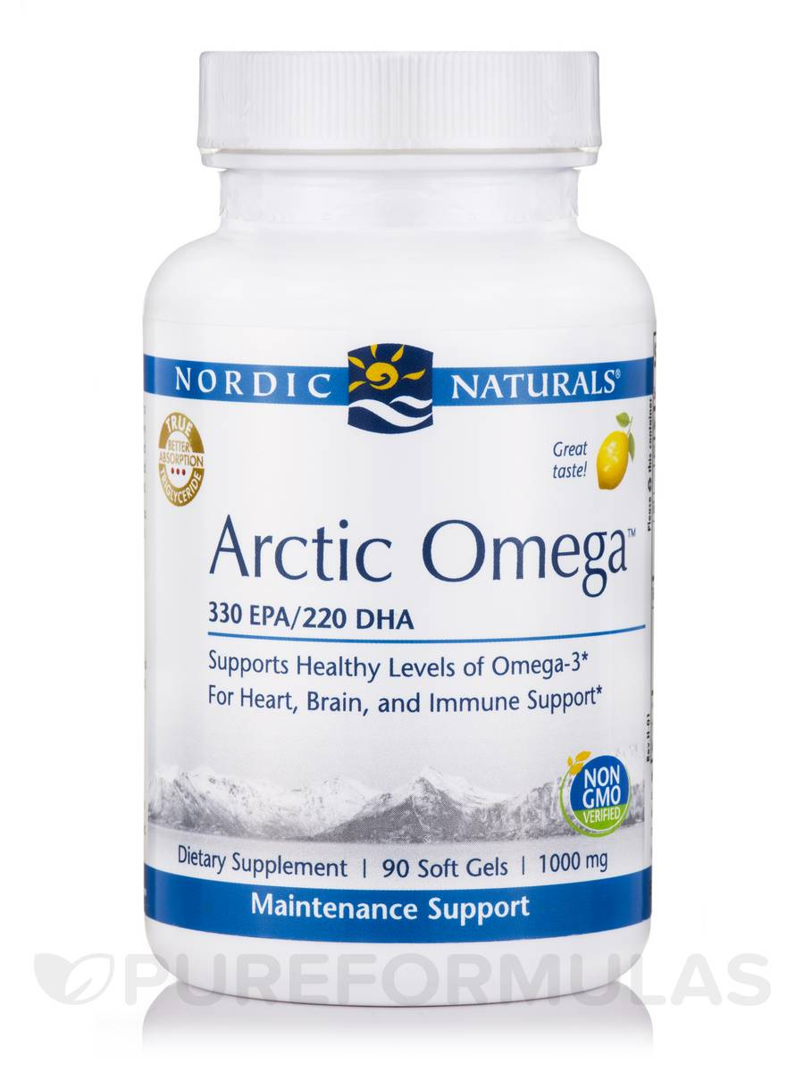 Arctic™ Omega 1000 mg, Lemon Flavor - 90 Soft Gels