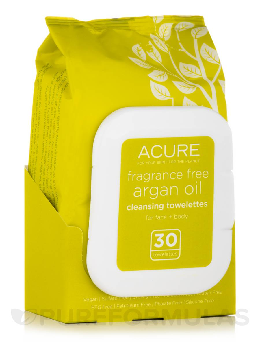 Argan Oil Cleansing Towelettes (Fragrance-Free) - 30 Count