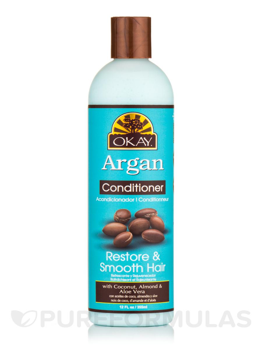 Argan Oil, Restore & Smooth Hair Conditioner - 12 fl. oz (355 ml)