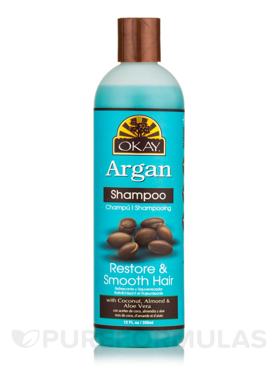 Argan Oil, Restore & Smooth Hair Shampoo - 12 fl. oz (355 ml)