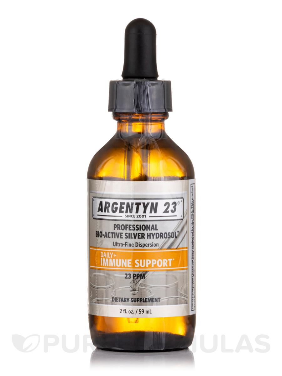 Professional Bio-Active Silver Hydrosol Dropper Bottle, 23 ppm - 2 fl. oz (59 ml)