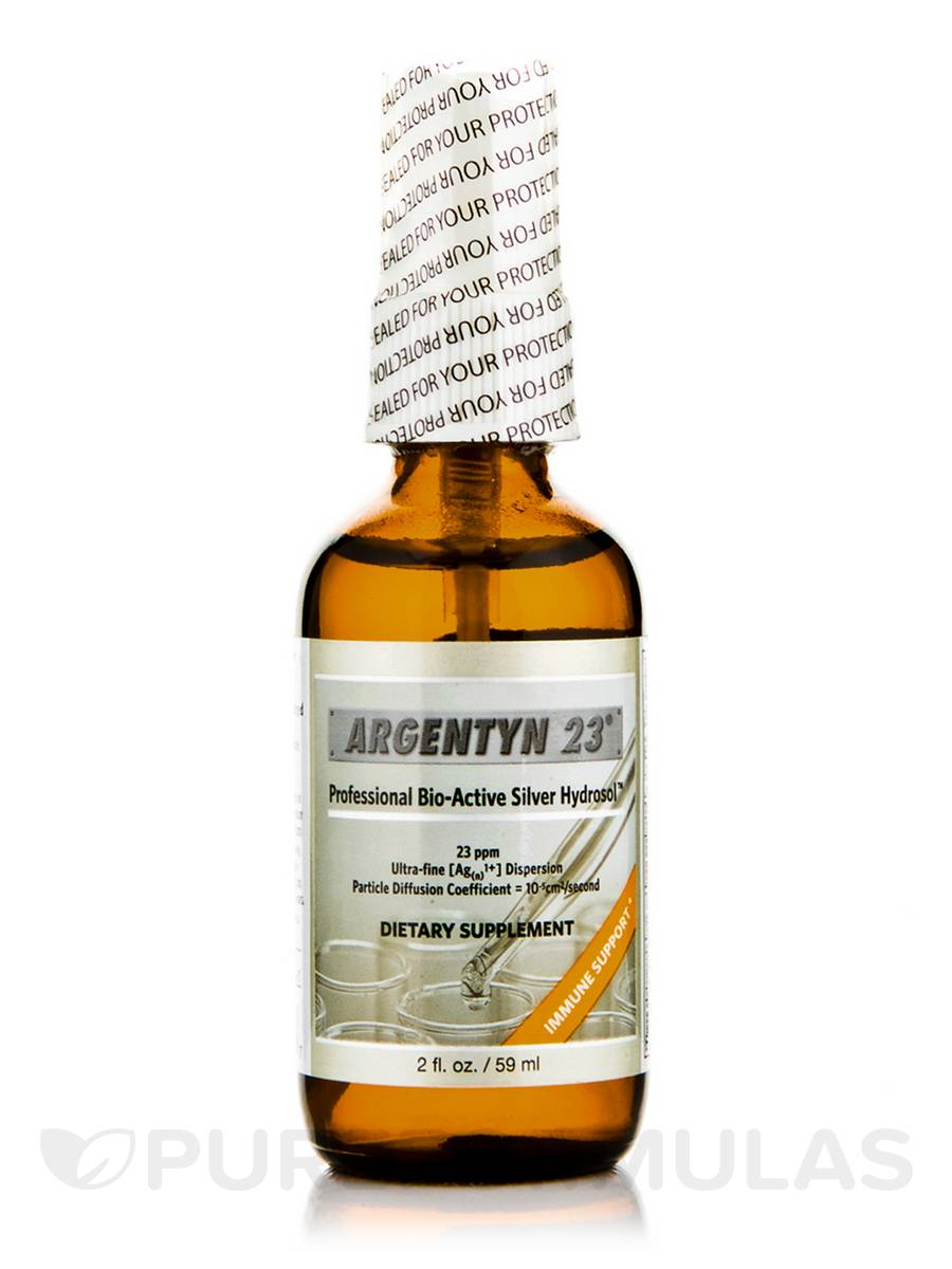 Professional Bio-Active Silver Hydrosol Fine Mist Spray, 23 ppm - 2 fl. oz (59 ml)