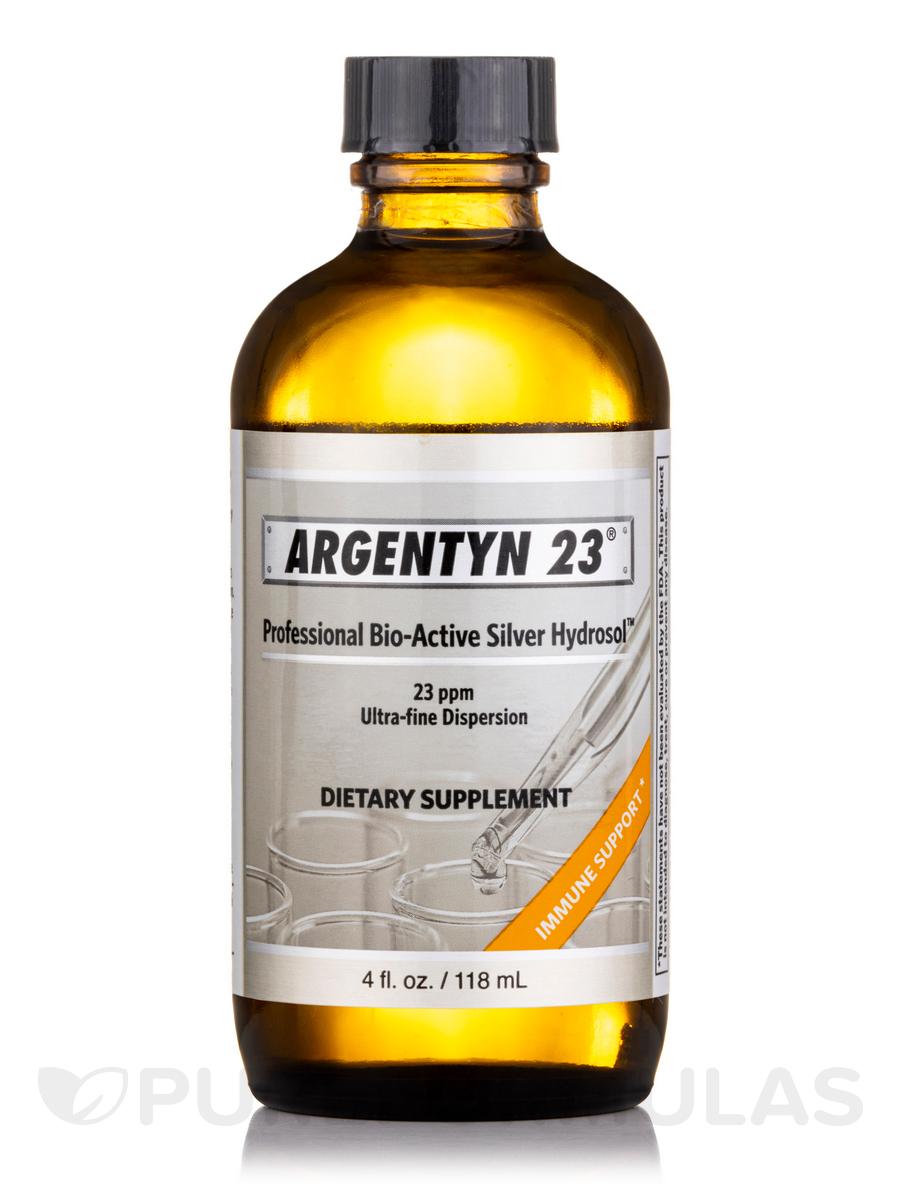 Professional Bio-Active Silver Hydrosol No Dropper Bottle, 23 ppm - 4 fl. oz (118 ml)