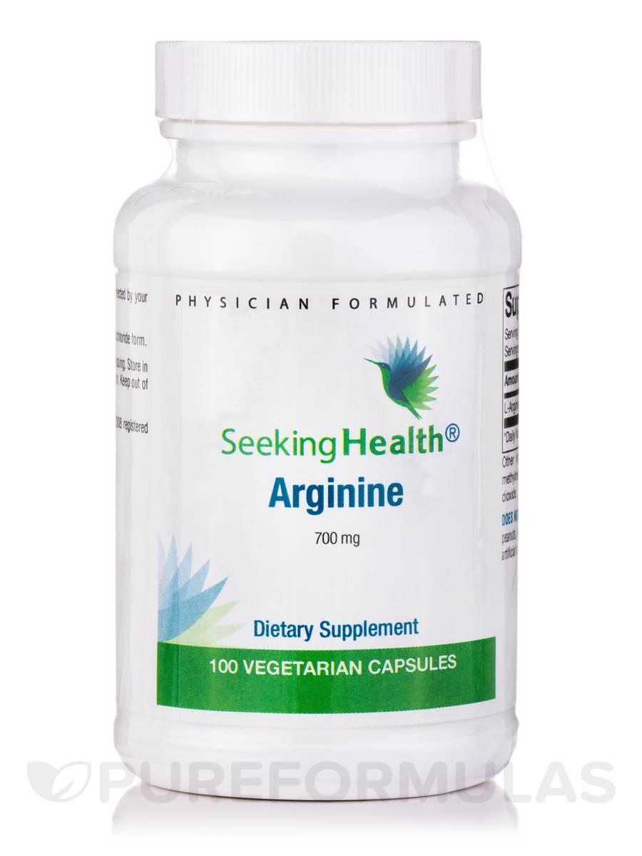 Arginine 700 mg - 100 Vegetarian Capsules