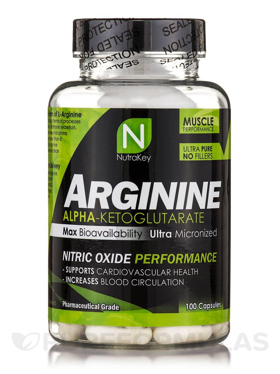Arginine AKG 500 mg - 100 Capsules