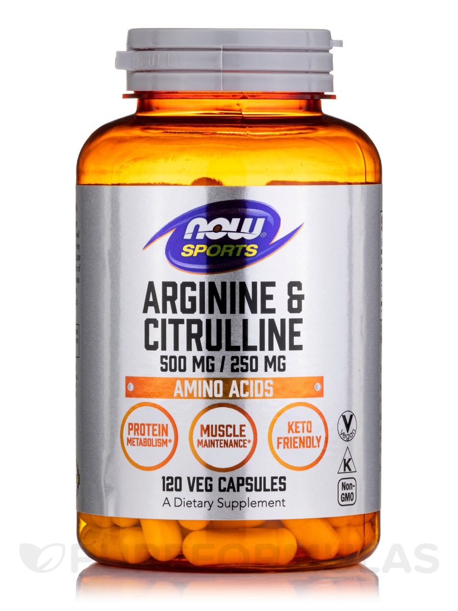 NOW® Sports - Arginine & Citrulline 500/250 - 120 Veg Capsules