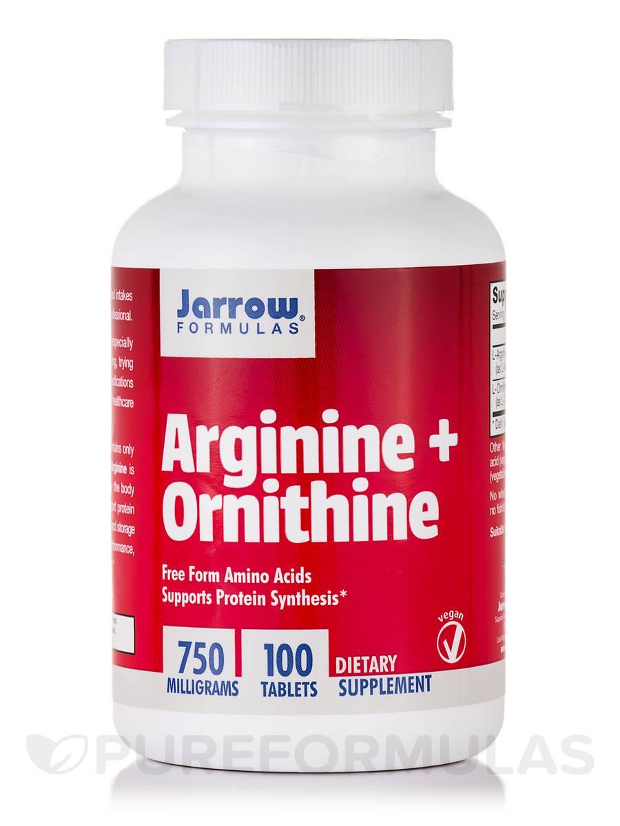 Arginine + Ornithine 750 mg - 100 Tablets
