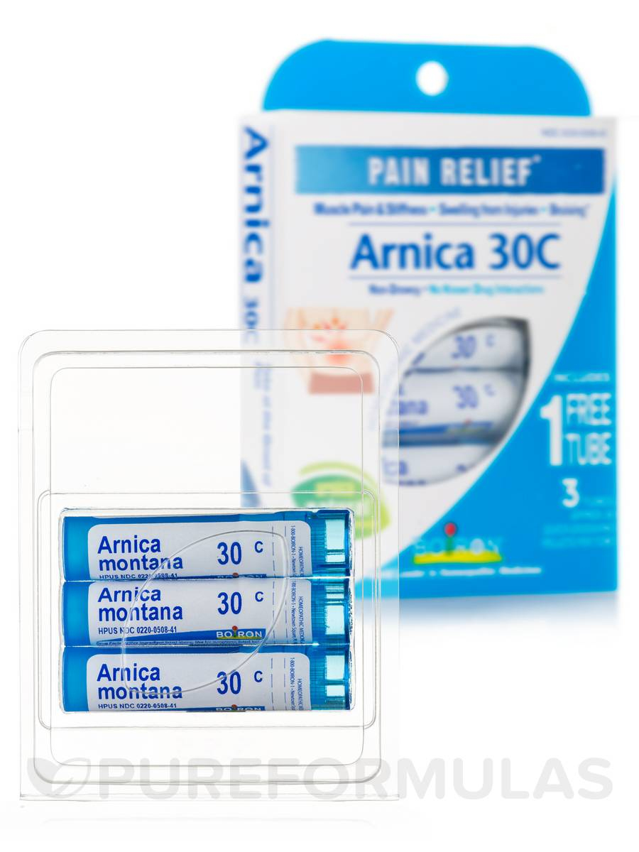 Arnica 30C (Pain Relief) - 3 Tubes (Approx. 80 Pellets Per Tube)