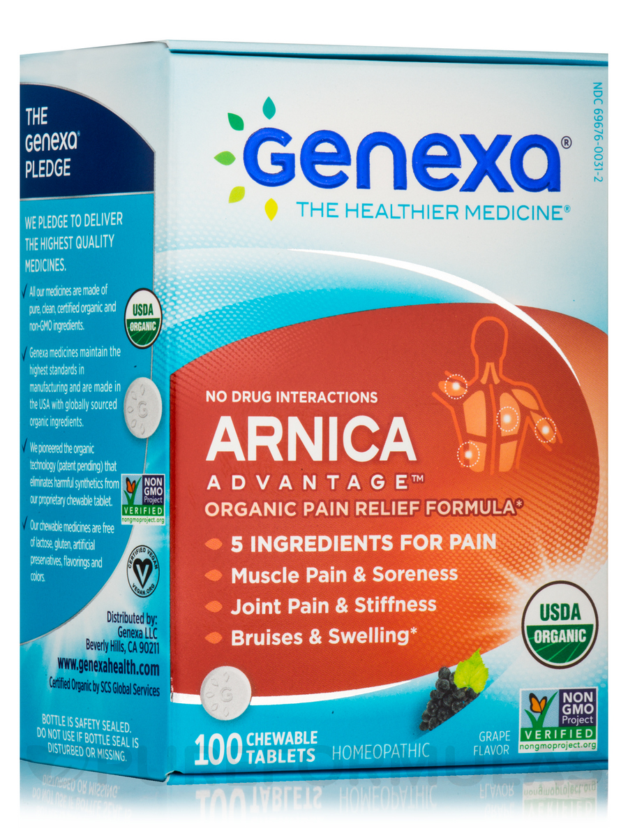 Arnica Advantage™, Grape Flavor - 100 Chewable Tablets