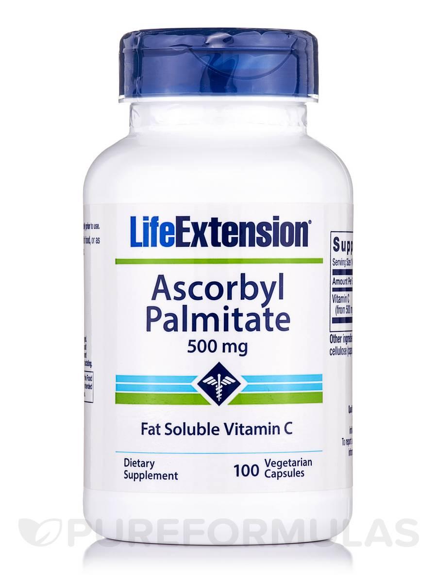 Ascorbyl Palmitate 500 mg - 100 Vegetarian Capsules
