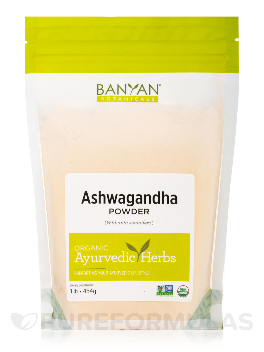 Ashwagandha Powder, Organic - 1 Lb (454 Grams)