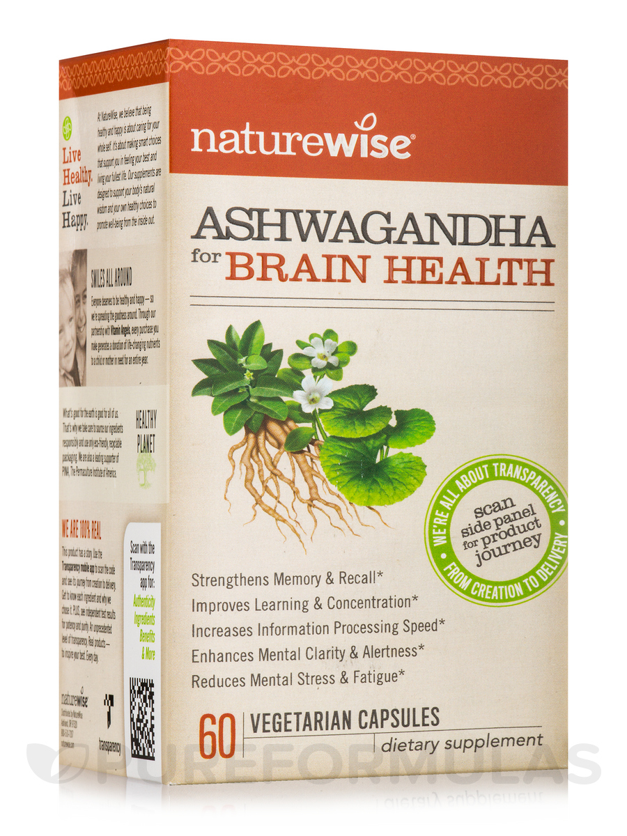 Ashwagandha for Brain Health - 60 Vegetarian Capsules