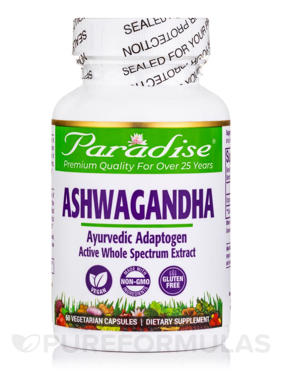 Ashwagandha, Organic Extract - 60 Vegetarian Capsules
