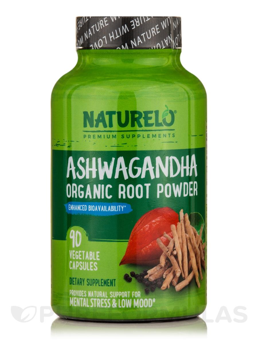 Ashwagandha Organic Root Powder - 90 Vegetable Capsules